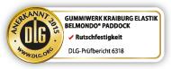 DLG Prüfsiegel: BELMONDO Paddock ist DLG geprüft auf Rutschfestigkeit