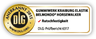 DLG Prüfsiegel: BELMONDO Horsewalker ist DLG geprüft auf Rutschfestigkeit