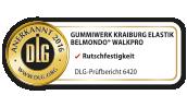KRAIBURG BELMONDO Stallmatten aus Gummi sind von der DLG auf Rutschfestigkeit und weitere Kriterien geprüft