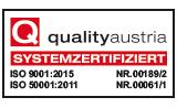 KRAIBURG ist nach DIN ISO 9001 Qualitätsmanagement systemzertifiert