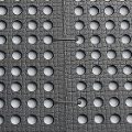 BELMONDO Flix perforated rubber mats are attached to each other with cable ties