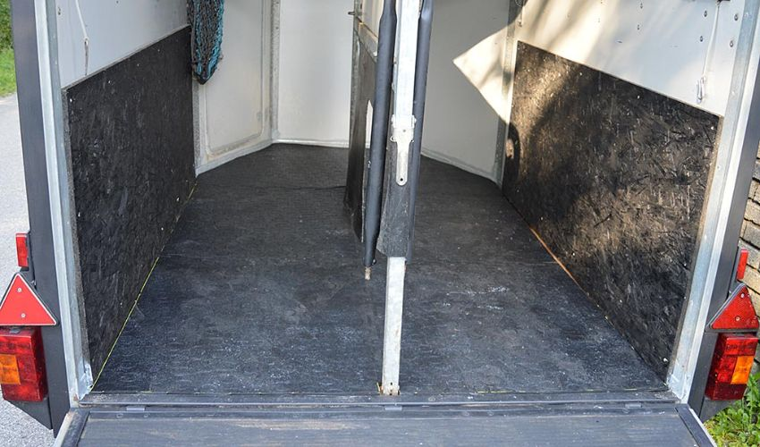 horse trailer with BELMONDO Walkway rubber flooring