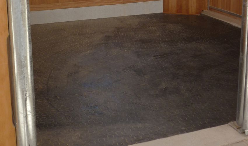 BELMONDO Classic rubber mat for looseboxes in horse stables