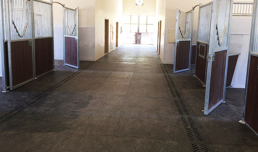 BELMONDO Walkpro rubber flooring for walkways in horse stables